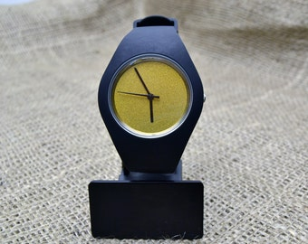 Customised black silicone watches