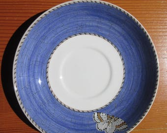 Vintage Wedgwood Sarah's Garden Queen's Ware Saucer Butterfly - Made in England