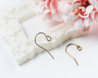 1pair 11.5x20mm 14K Gold Filled  Ball End Ear Wire
