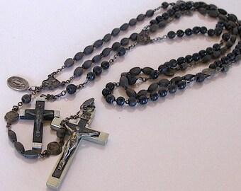 vintage wooden rosaries beads religious catholic devotion