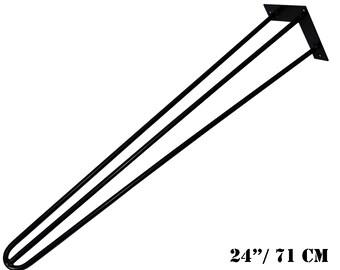 Hairpin Legs 3 rod, Table legs, Metal legs, Furniture legs, Rustic table legs, 10mm steel - 28''(71 cm) - Desk/Dining Table