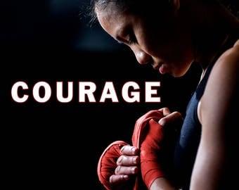 COURAGE, Motivational quotes, motivational poster, motivational wall decor, motivational art, inspirational quotes (JS1415)