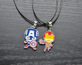 Avengers Iron Man/Captain America Marvel Necklace