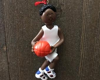 Personalized basketball ornament boy