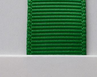 "3/8"" / 10mm Solid Grosgrain Ribbon EMERALD #580 X 2 METERS"