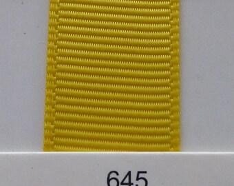 "3/8"" / 10mm Solid Grosgrain Ribbon DAFFODIL #645 X 2 METERS"