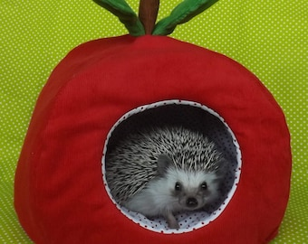 Apple with polka dots hedgehog house bed small animal guinea pig