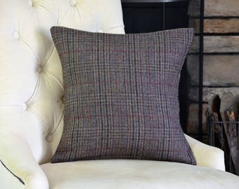 Brown Wool Pillow Cover