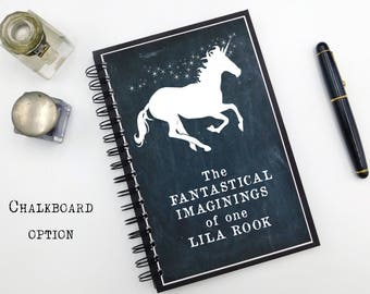 Custom Notebook, Unicorn Journal, Spiral, Personalized Gift, Hardcover, Personalized, Gift for Her, Custom Journal