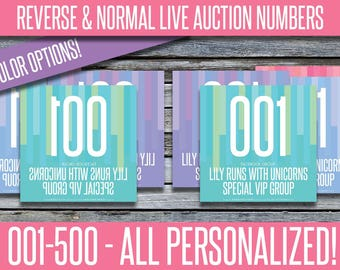 Auction Numbers - Reverse / Mirror / Backward & Normal - MIRIT_11
