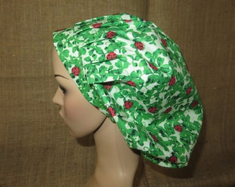Lucky Lady Bug  Classic Bouffant Surgical Scrub Hat