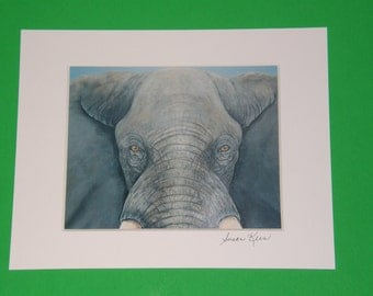 African Elephant limited edition 8 x 10 inkjet print from original painting