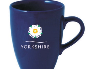 Yorkshire Navy Earthenware Mug