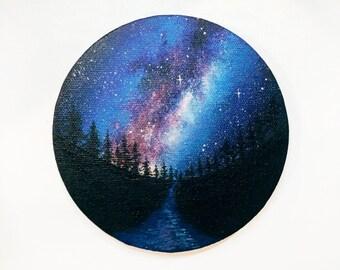 Bright as the Night - Acrylic painting - PRINT
