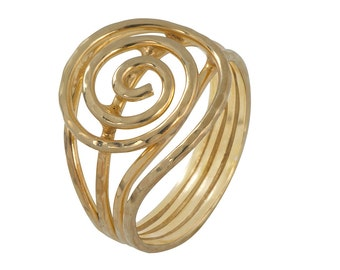 Gold Plated Delicate Everyday Swirl Ring