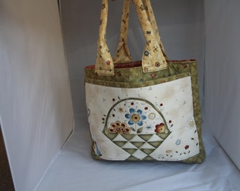 Handmade Quilted Knitting/Sewing Bag