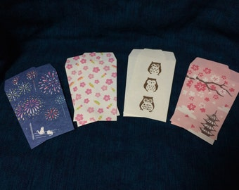 Kawaii Mini Envelopes - Japanese  Assortment Fireworks Owl and more