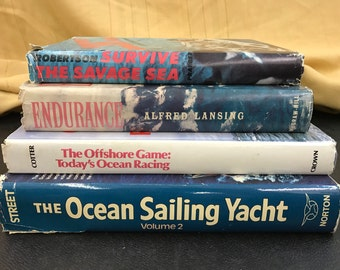 Stack of vintage sailing books!!