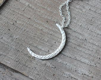 new moon necklace crescent moon jewelry