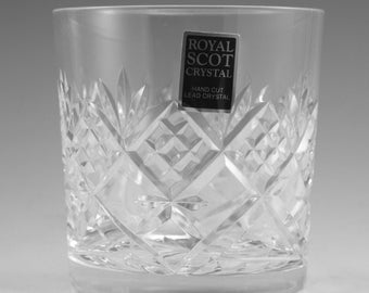 Royal SCOT Crystal - ST GILES Pattern - Tumbler Glass / Glasses - 3 1/4""