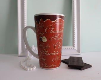 Mocha Latte Chocolate Mug by Trisa Vintage Trisa mug