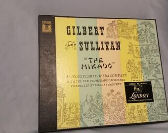 """Gilbert and Sullivan """"The Mikado"""" 1950's Opera Record"""