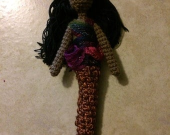 Copper Tail Mermaid Art Doll