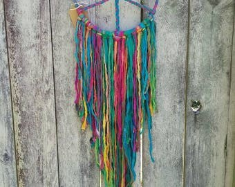 Colorful Silk Peace Sign Dream catcher