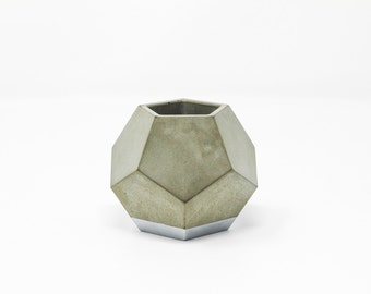 Dodecahedron Planter: Silver