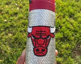 Custom Chicago Bulls Contigo Stainless Steel Travel Mug Tumbler Cup