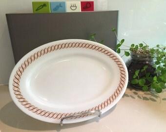 Vintage Pyrex Platter - Regency Scroll Design