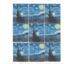 Planner Stickers Vincent Van Gogh Starry Night