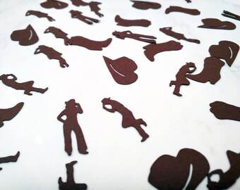 Western Confetti Decorations - Party - Scrapbooking - Embellishments - Die Cut - Bachelorette - Hen - Cards - Birthday