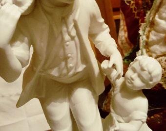 Figurine in White Porcelain, unglazed