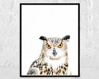 Owl print Owl picture Owl animal print Owl wall art animal decor nursery animal print nursery animal wall art low poly print animal print