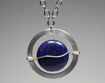 Lapis Lazuli Full Circle Necklace