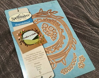 Spellbinders Shapeabilities Wreath Cut Emboss Stencil Detailed Cutting Die Set S4-572