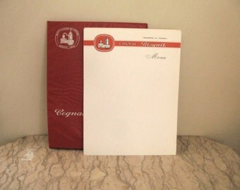 French menu cards - Cognac Biscuit