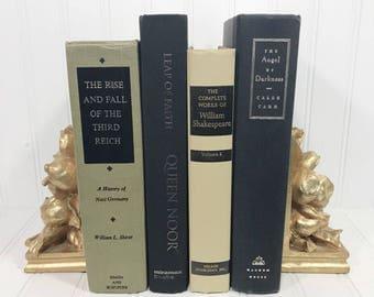 Black and Tan Decorative Book Set