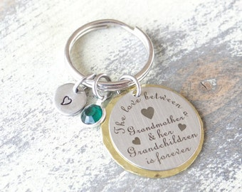 Grandma Keychain, Grandkids keychain, love between grandmother and grandkids, Love is forever