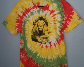 Lion and Lamb Rasta Swirl Tie-Dye T-Shirt