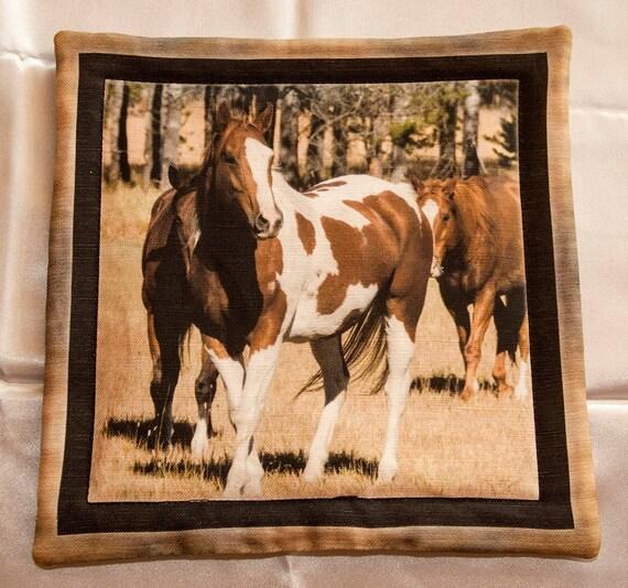 Paint Horse Photography Horse Potholder Horse Kitchen Decor Horse Hot Pad Western Hot Pad