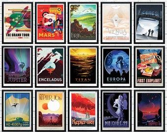 NASA Space Poster, Pick and Mix Full Set, Nasa Exoplanet Travel Posters, Space Poster, Space Art, Nasa Art, Nasa Space Poster, Home Decor