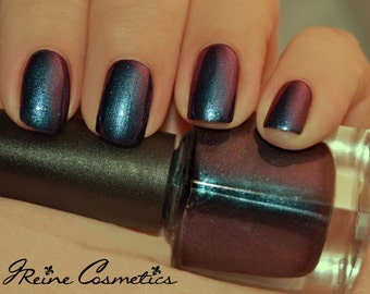 Bourbon & Beer - Blue Red Multichrome Color Shifting Nail Polish