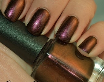 Burlesque Babe - Maroon Red Duochrome Color Shifting Nail Polish