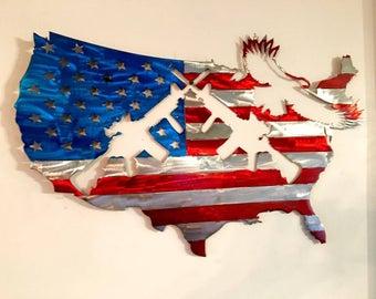 USA Flag  AR's & Eagle