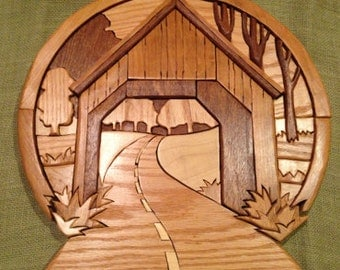 Covered Bridge-Country Road