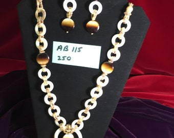 Pearl Rings Necklace And Earrings