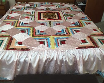 A Beautiful Handmade Quilt Bedspread
