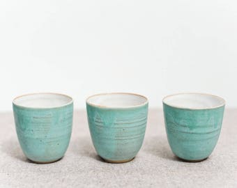 handcrafted ceramic cups/ tumblers